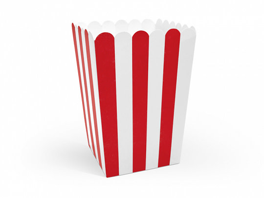 PD Boxes for popcorn, mix, 7x7x12.5cm