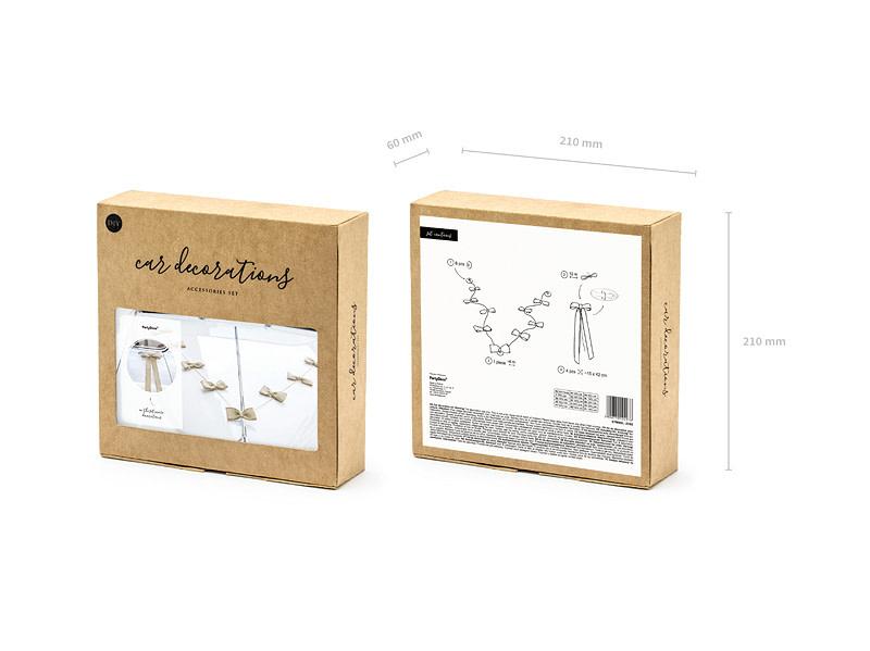 PD Car decoration kit - Bows, burlap