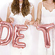 PD Foil Balloon Bride to be, 340x35cm, rose gold