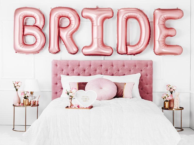 PD Foil balloon Bride, 280x86cm, rose gold