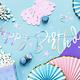 PD Banner Happy Birthday, iridescent, 16.5x62cm