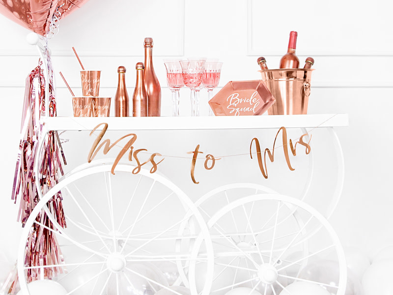 PD Banner Miss to Mrs, rose gold, 18x76cm