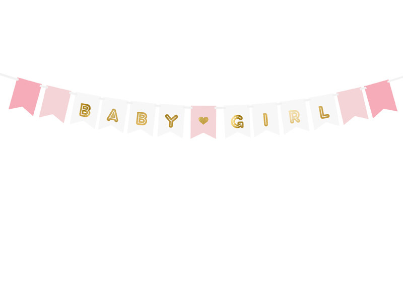 PD Banner Baby Girl, mix, 15 x 175 cm