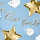 PD Banner Little Star - Hello Baby, gold, 18x70cm