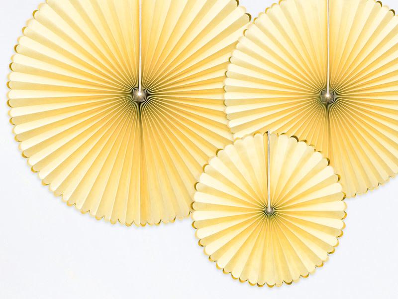 PD Decorative Rosettes Yummy, light yellow
