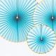 PD Decorative Rosettes Yummy, light blue