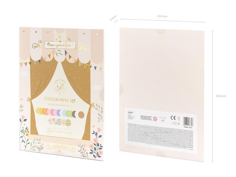 PD Art color paper set, A4, mix, 34 sheets