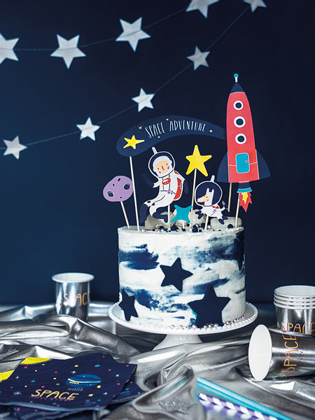 PD Cake topper Space, 9.5-24.5cm