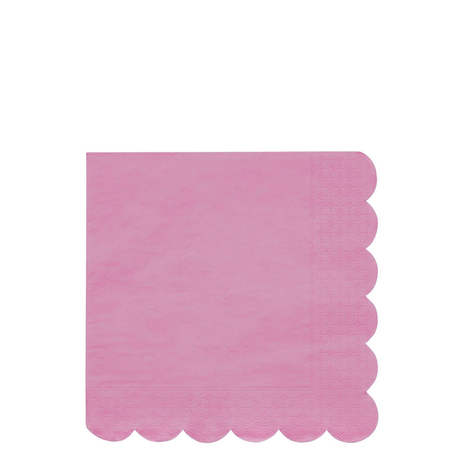 MERIMERI Deep pink simply eco napkins L