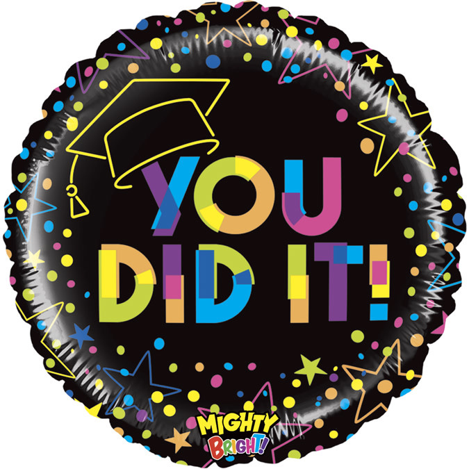 SMP Colorful you did it circle foil balloon 45 cm