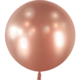 SMP 1 shiny chrome rose gold latex balloon 60 cm