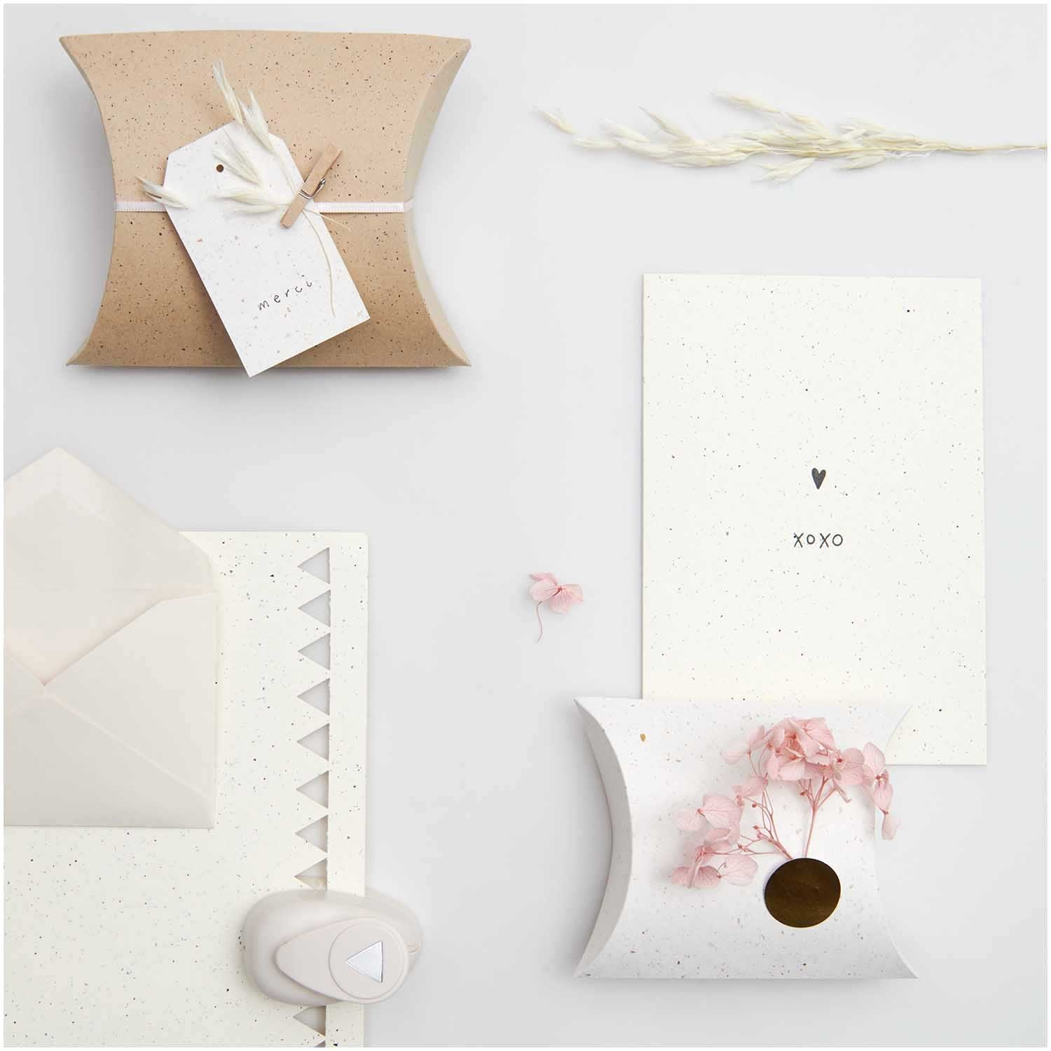 Rico NAY Card set B6, recycled paper offwhite, 10 cards, 10 envelopesFSC MIX