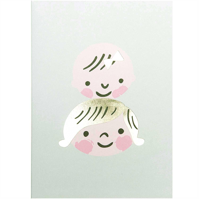 Rico NAY DIY CARD, BABY FACES  CARD/ENVELOPE/CONFETTI/STICKER