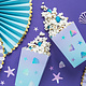 PD Boxes for popcorn under the sea, mix, 7x7x12.5cm