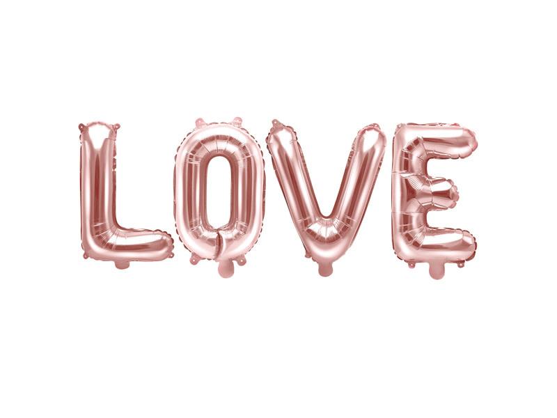 PD Foil Balloon Love, 140x35cm, rose gold