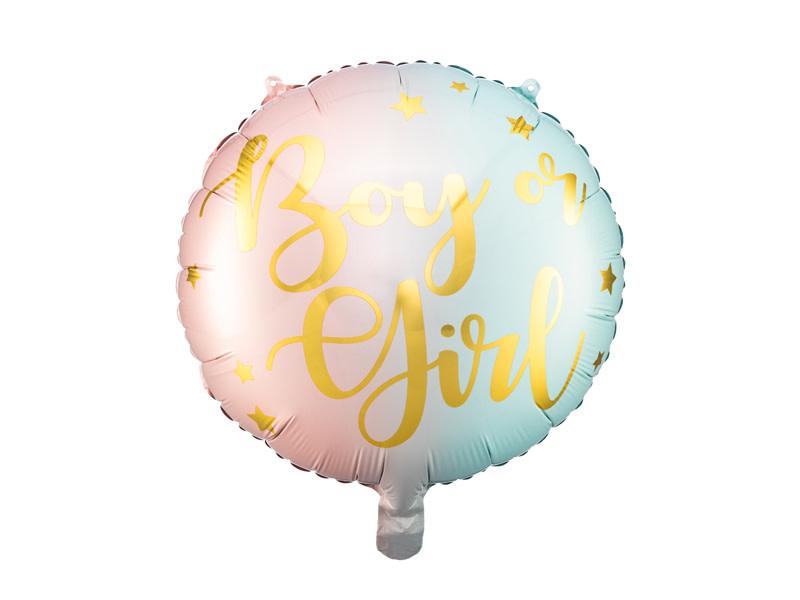 PD Foil balloon Boy or Girl, 35cm, mix