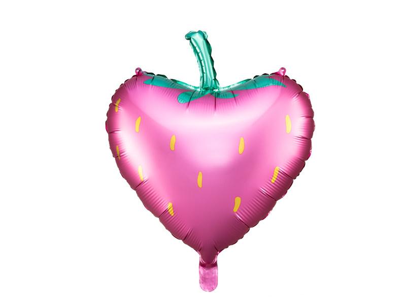 PD Foil balloon Strawberry, 42x45cm, mix