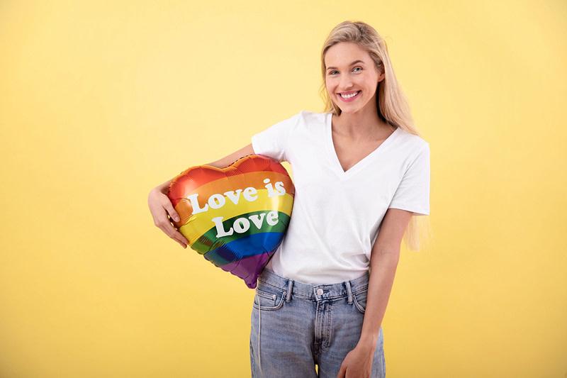 PD Foil balloon Love is Love, 35cm, mix