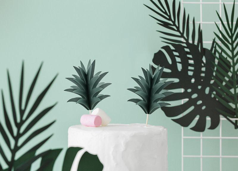 PD Cupcake toppers Aloha - Pineapple