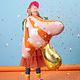 PD Foil balloon Mushroom, 66x75cm, mix