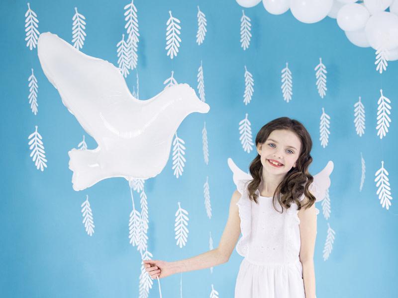 PD Foil Balloon Dove, white, 77x66cm
