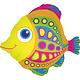 SMP colorful fish foil balloon 68 cm