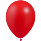 SMP 12 x metallic red latex balloons 28 cm 100% biodegradable