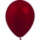 SMP 12 x metallic bordeaux latex balloons 28 cm 100% biodegradable