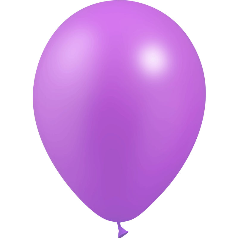 SMP 12 x metallic lilac latex balloons 28 cm 100% biodegradable