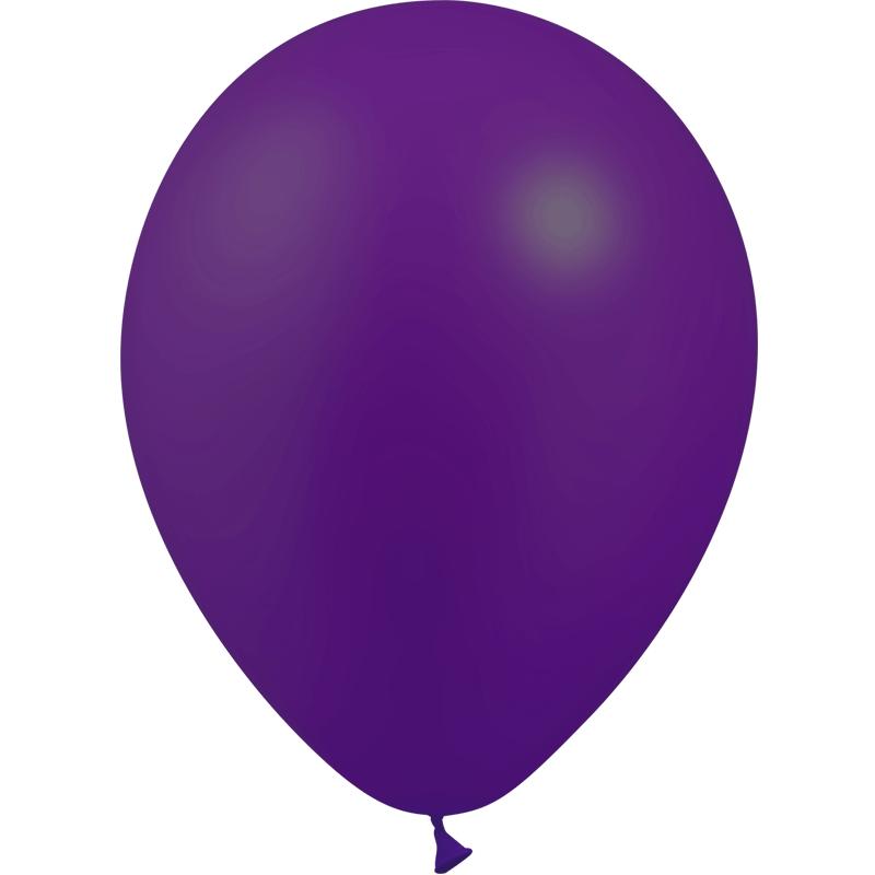 SMP 12 x metallic purple latex balloons 28 cm 100% biodegradable