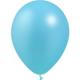 SMP 12 x metallic light blue latex balloons 28 cm 100% biodegradable
