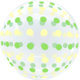 SMP Dots Bubble Balloon green and yellow 45 cm