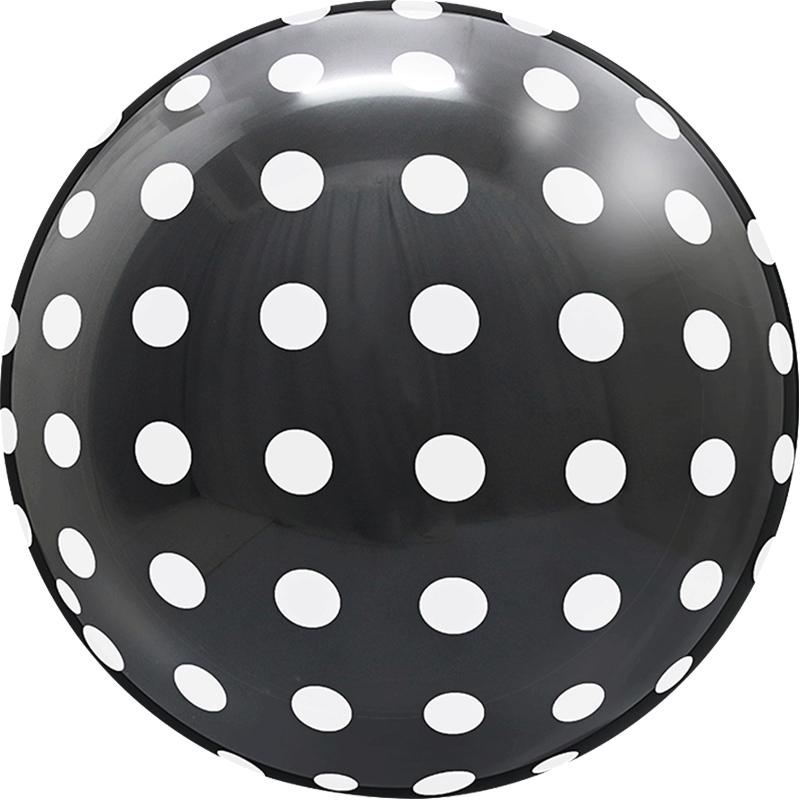 SMP Dots Bubble Balloons Black 45 cm
