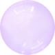SMP Crystal Bubble Balloon purple 60 cm