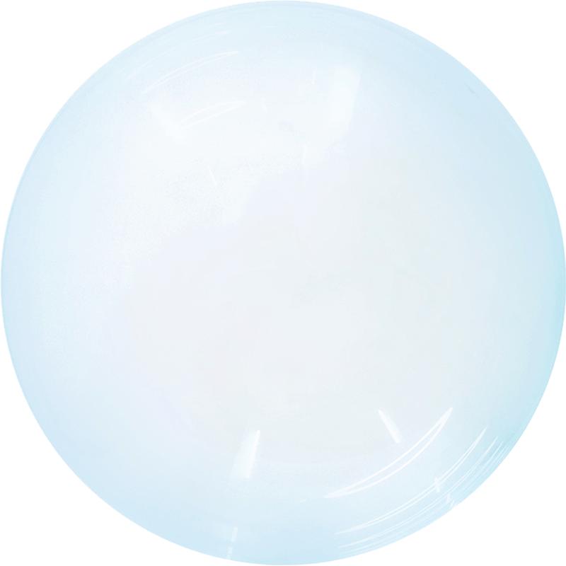 SMP Crystal Bubble Balloon blue 60 cm