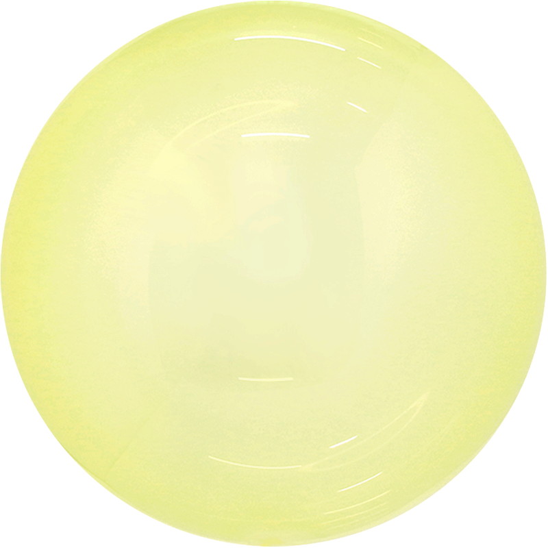SMP candy bubble balloon yellow 45 cm
