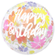 SMP clear printed chrysanthemum hbd bubble balloon 50 cm