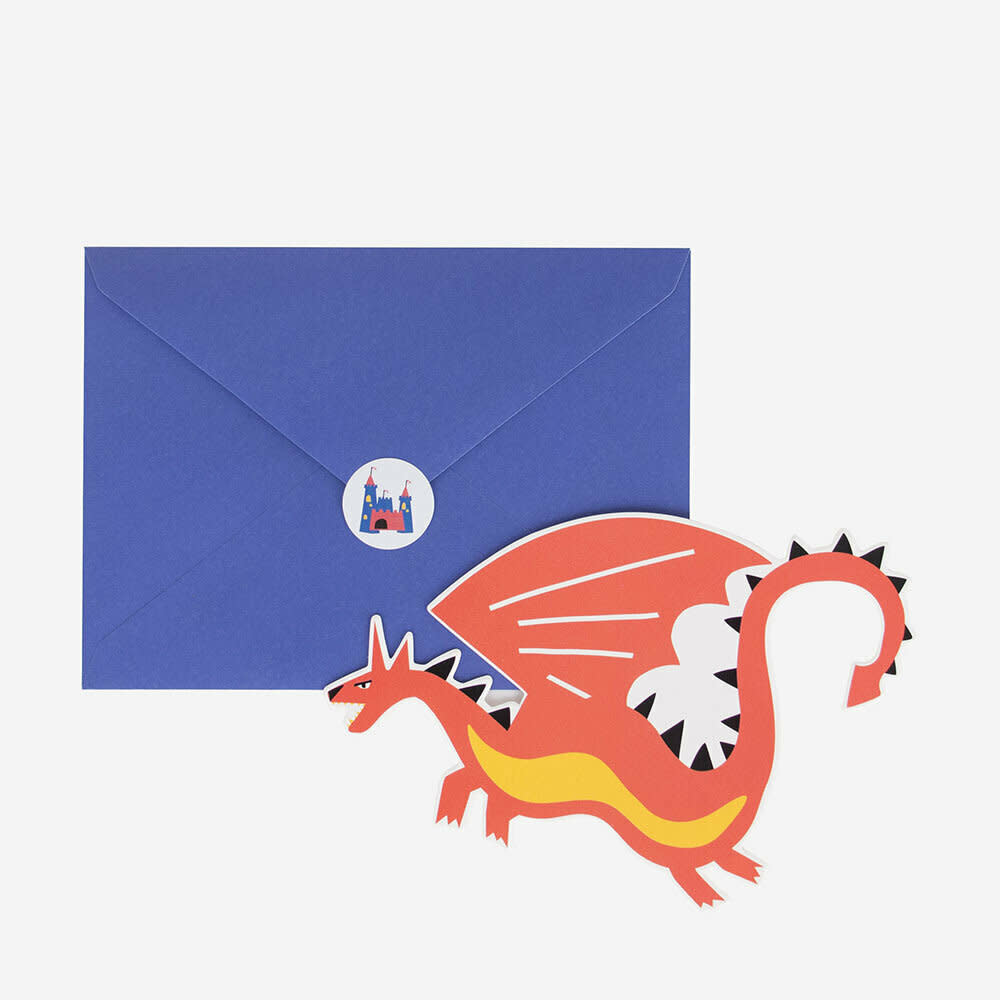 MY LITTLE DAY 8 invitations dragons