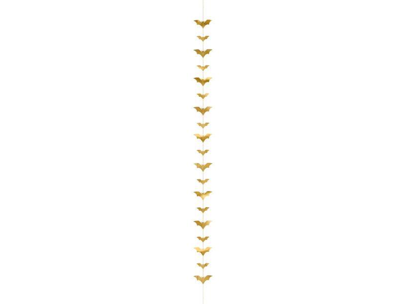 PD Garland Bats, gold, 1.5m