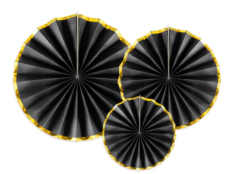 PD Decorative Rosettes, black