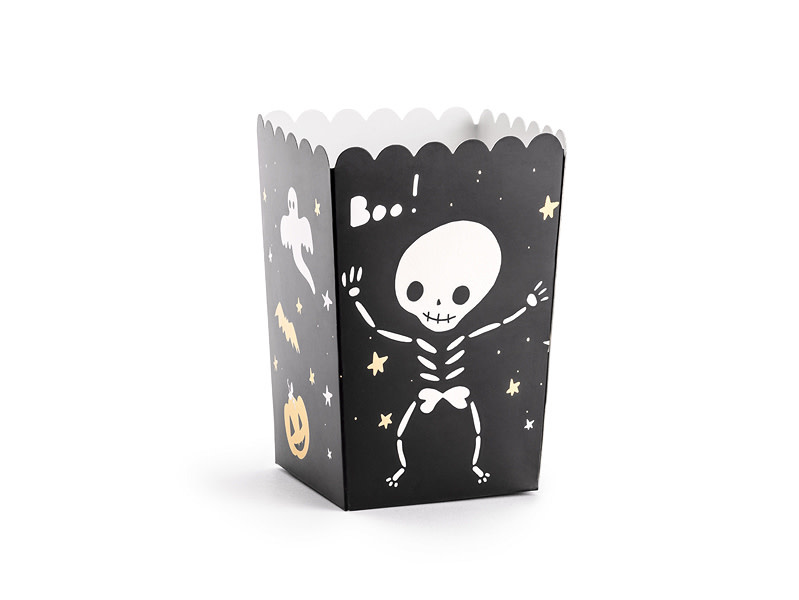 PD Boxes for popcorn BOO!, mix, 7x7x12.5cm