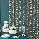 PD Backdrop - Flowers, gold, 100x210cm