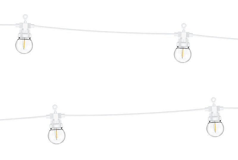 PD Festoon LED lights, white, 5m, doesn't contain UK plug