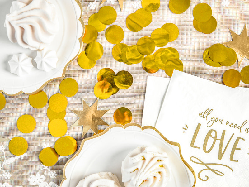 PD Confetti Circles, gold, 15g
