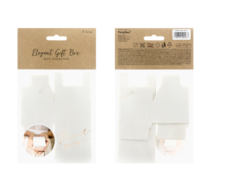 PD Boxes Thank you, white/ rose gold 6x3.5x5.5cm