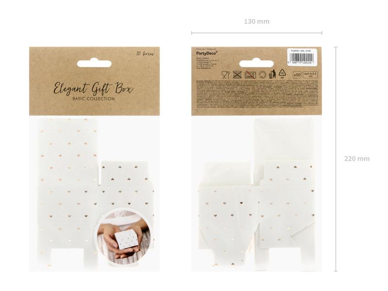 PD Boxes Hearts, white, 6x3.5x5.5cm