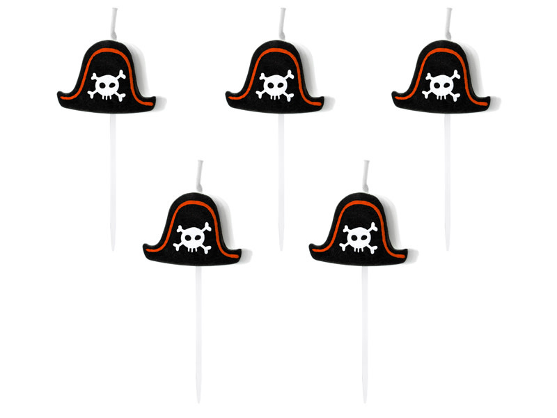 PD Birtday candles Pirates Party, 2cm