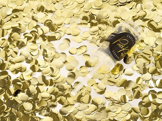 PD Confetti push pop, gold