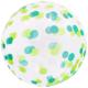 SMP confetti green bubble balloon 45 cm