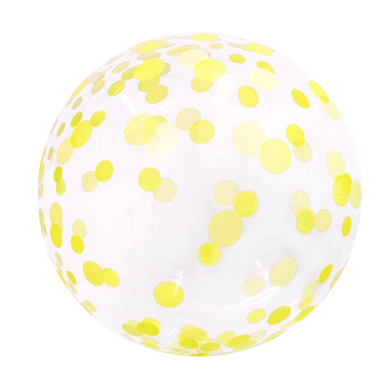 SMP confetti yellow bubble balloon 45 cm